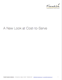 Download A New Look at Cost to Serve