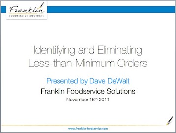 Identifying and Eliminating Less than Mininum Orders
